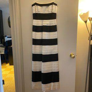 BCBGMaxAzria striped satin dress